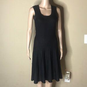 Nic & Zoe Black Mid Length Dress Size Small